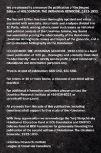 Holodomor Book order information